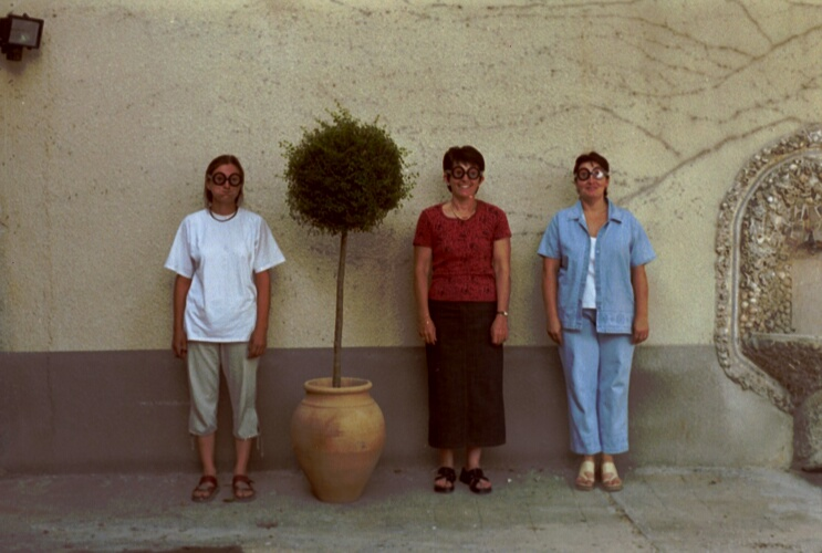 Angela Davis et trois amies
