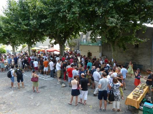 17 vignerons ardéchois se sont retrouvés le lundi 5 août.