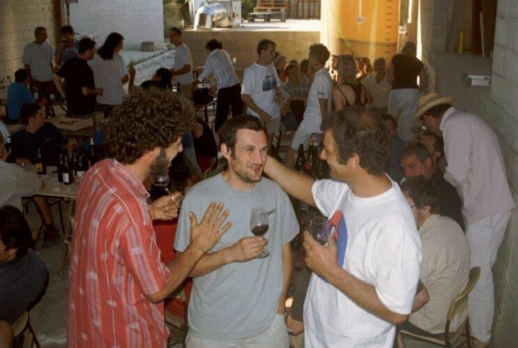 Loïc Roure, Edouard Laffitte et Eric Pfifferling dégustent et dégustent et dégustent encore. On se sait jamais.