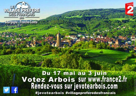 Arbois, le village préféré des Français.