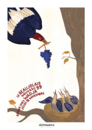 Affiche beaujolais 1999 Wadja