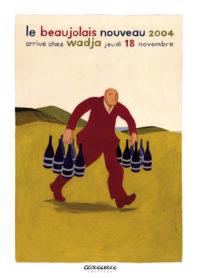 Affiche beaujolais 2004 Wadja