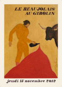 Affiche Beaujolais 2012 le Gibolin
