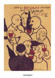 Affiche beaujolais 2002 Wadja