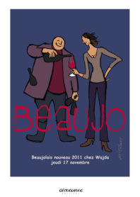 Affiche beaujolais 2011 Wadja