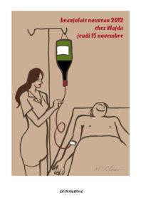 Affiche beaujolais 2012 Wadja