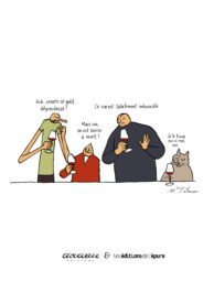 Affichette Mimi, Fifi & Glouglou-Souris à mort