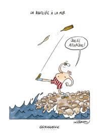 Affichette La bouteille à la mer par Zoé Thouron